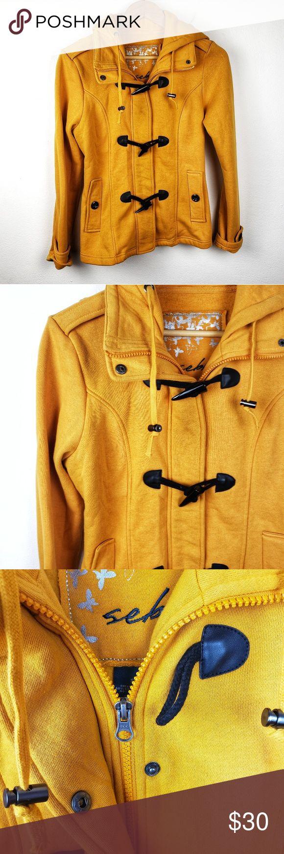 Sebby | Mustard Yellow Fall Winter Jacket Coat S | Fall ...