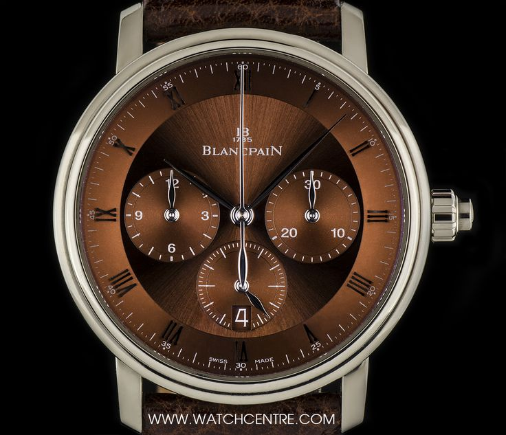 Blancpain 18k White Gold Single Pusher Villeret Chronograph 6185-1546-55. Our Price: £6,500!!!! Call or Text Now On: 07885 661 038 and Quote: FB04081506 for more information. #Blancpain #WhiteGold #Chronograph #Villeret #Gents #Wristwatch #Luxury #Timepiece #WatchCentre #London
