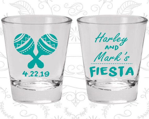 Fiesta Wedding Shot Glasses Wedding Favor by MyWeddingStore