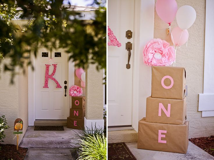 25 best ideas about baby girl birthday on pinterest for Baby birthday decoration images