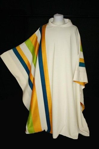 Maison Bouvrier - Recognized the world over for making the finest vestments available. - Asymmetrical Stripe