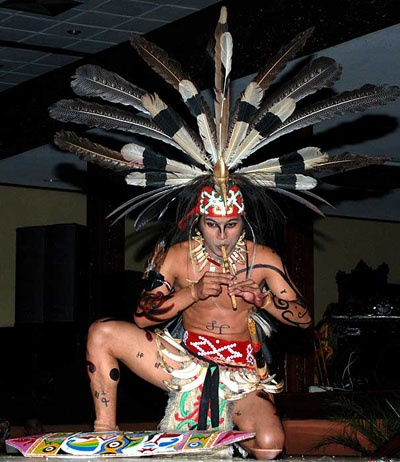 Bawikuwu dance, Dayak People,  Kalimantan Island, Indonesia.