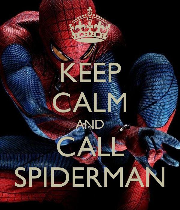 Keep Calm and Call Spiderman -Reste calme et appelle Spiderman