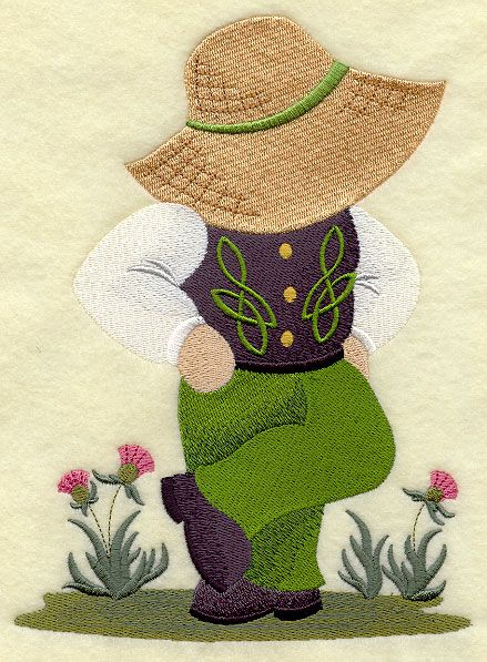 ** Irish Dancer Fisherman Fred  Block Of The Month Pattern Used As Applique Quilt @emlibrary