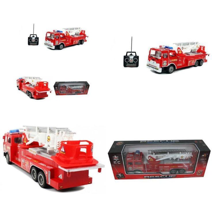 Big Remote Control Rescue Fire Engine Truck Extendable Ladder Kids Boys Toy 17 #LibertyImports