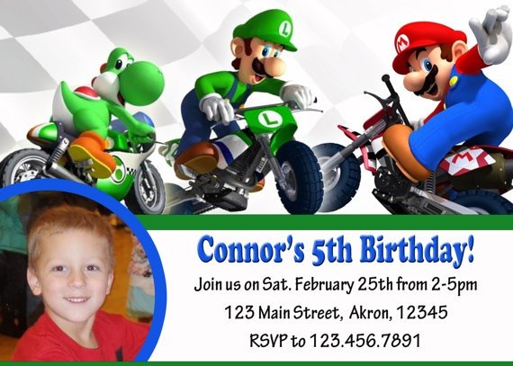 25 best images about Wii Mario Kart Party Ideas – Mario Kart Party Invitations