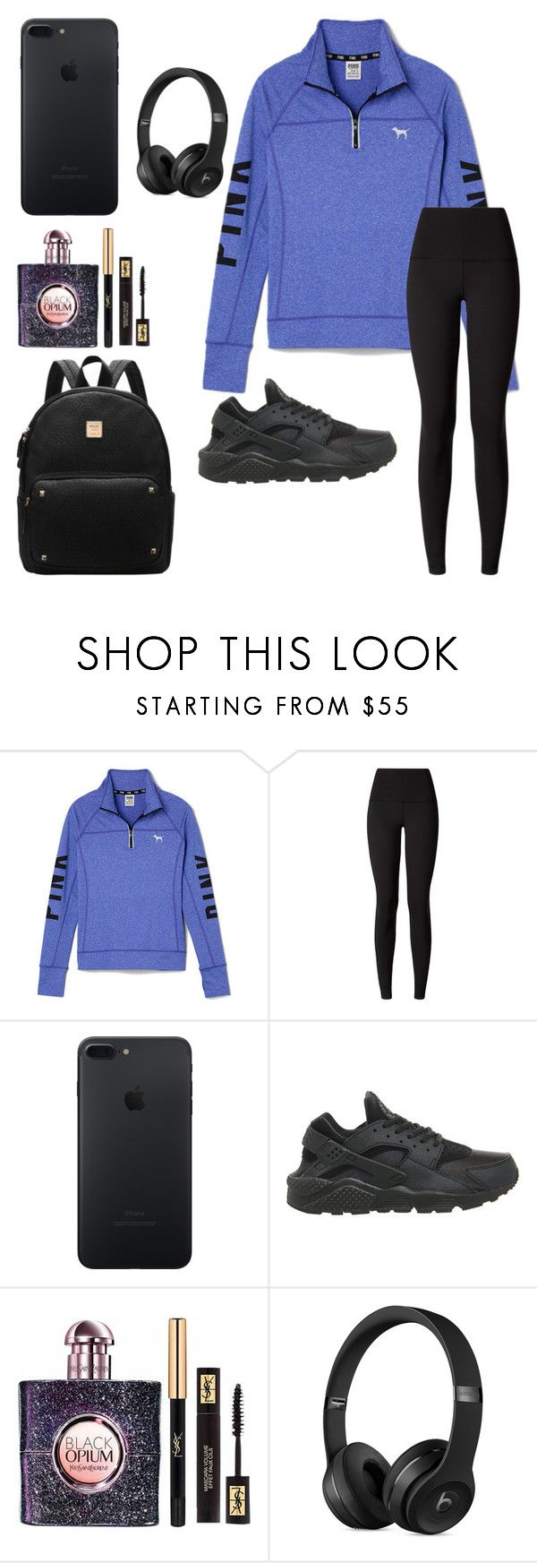 Rehearsing for a gig in the studio... by khaelynn on Polyvore featuring Victoria's Secret PINK, lululemon, NIKE and Yves Saint Laurent