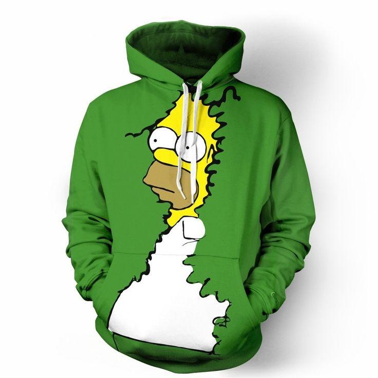 Homer Simpson Bushes Hoodie