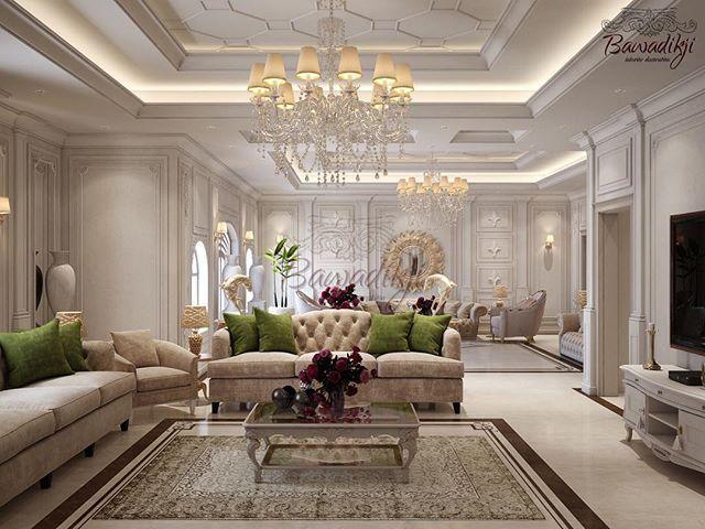 Bawadikji Interior بوادقجي V Instagram مدخل و صالة لاحد مشاريعنا الجديدة الستايل نيو كلاسيك الفيلا من تصميم بوادقجي ل Luxury Design Design Furniture