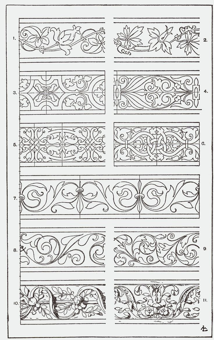 "From, ""A Handbook of Ornament"". 1898 by Franz Sales Meyer.                                                                                                                                                     Mehr"