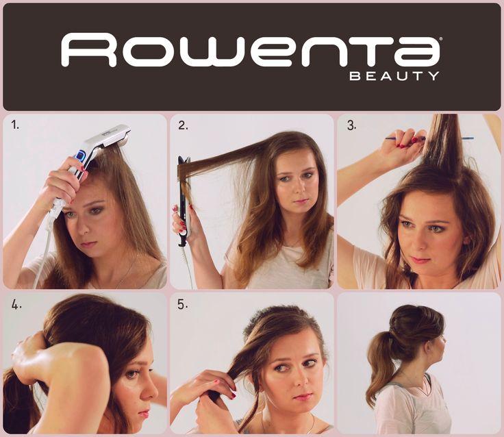 Kucyk glamour  1. Unieś włosy od nasady przy pomocy VOLUM'24  2. Zrób luźne fale, używając prostownicy RESPECTISSIM 7/7  3. Natapiruj włosy  4. Zbierz je w kucyk i używając grzebienia podnieś koronę włosów  5. Owiń gumkę pasmem grzywki #Respectissim #Rowenta #RowentaPolska #fryzura #włosy #hair #hairstyle #hotd #fryzjer #wlosomania #wlosomaniaczka #wlosomaniaczki #hairmania #hairgoals #haircolor #curls #waves #straightner #volum #wavy #straight #easy #tutorial #stepbystep