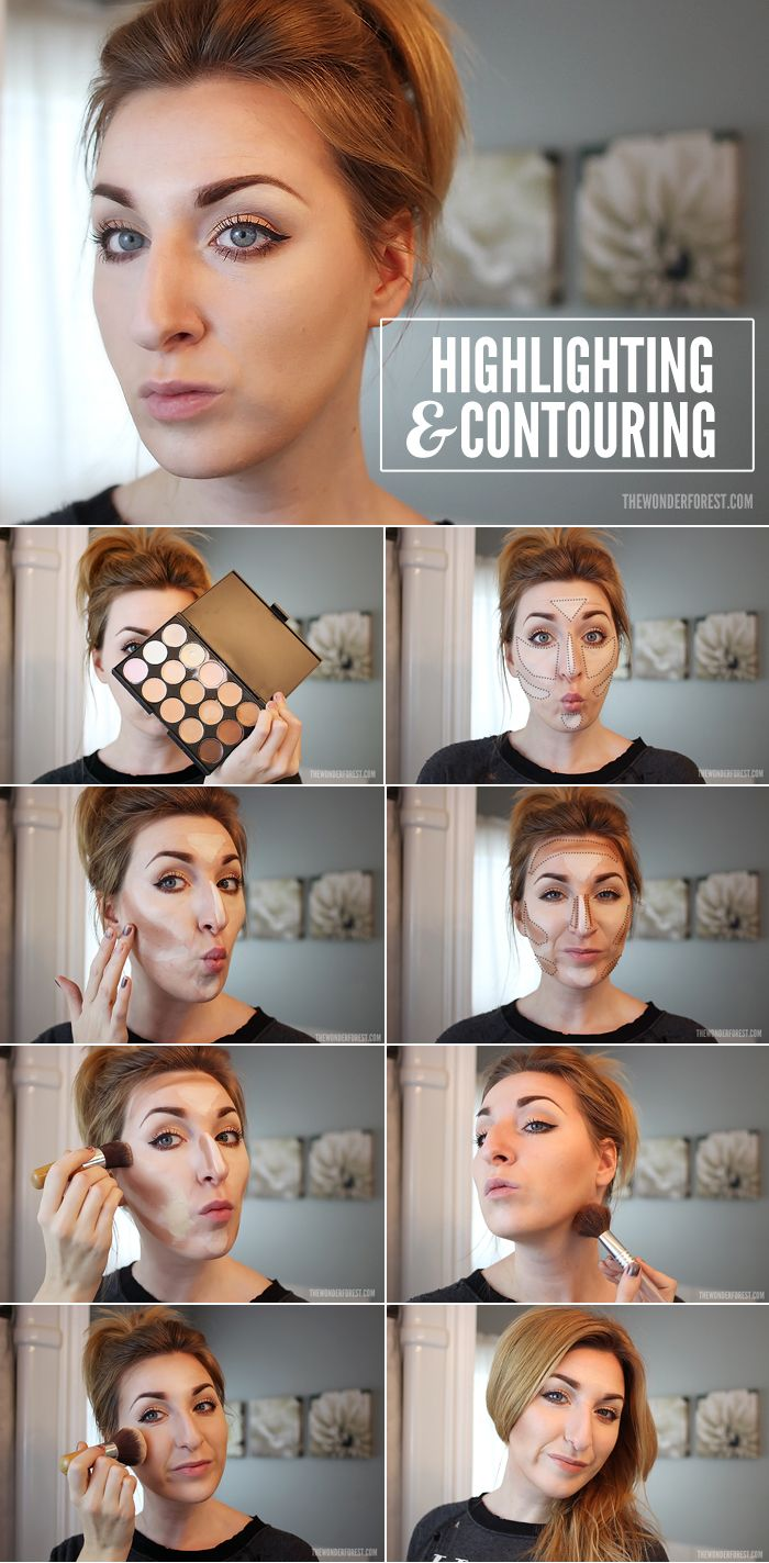 If I ever decide to try this! -                 How To Highlight and Contour: Makeup Tutorial | Wonder Forest: Design Your Life.