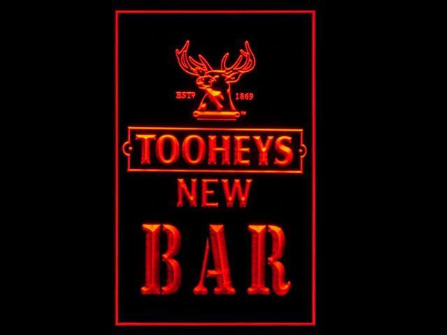 Tooheys New Pub Beer BAR Tall Light Sign