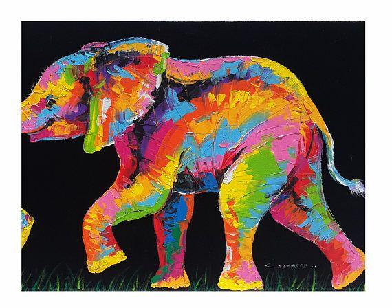25 prachtige idee n over kleurrijke olifant op pinterest olifant kunst olifant schilderijen - Associatie van kleur e geen schilderij ...