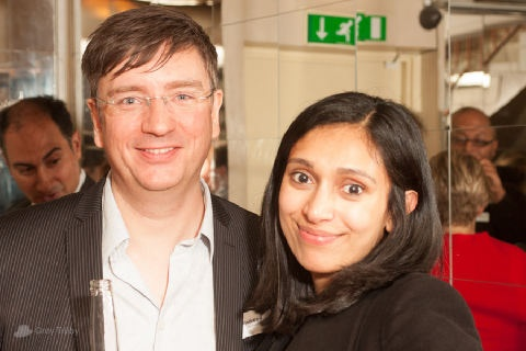 Jon Reed and Sanphy Thomas at the Publishing Talk London Book Fair Tweetup 2012.