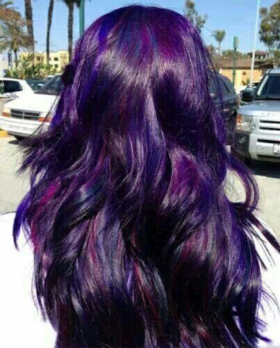 Dark purple highlights in black hair trendy hairstyles in the usa dark purple highlights in black hair pmusecretfo Gallery
