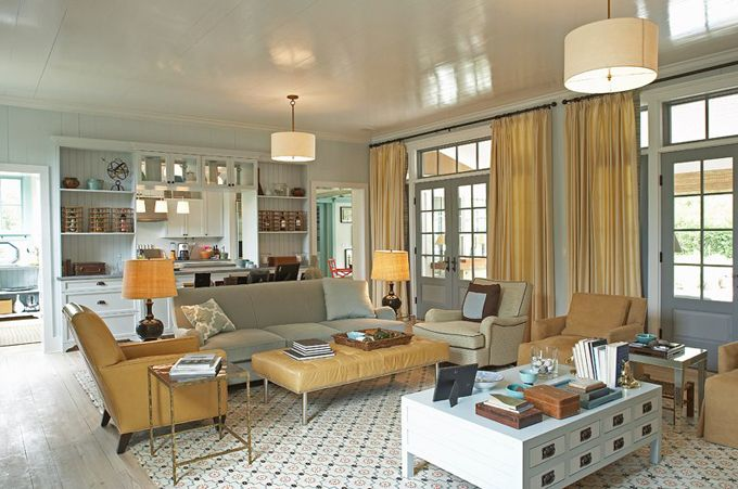 House of Turquoise: Historical Concepts + Steven Gambrel -: Ideas, Interiors Living Rooms, Color, Ceiling, Family Rooms, Historical Concepts, Cottages, House, Cottage Living