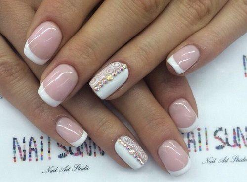 Нежный бело-розовый маникюр (40 фото) - Дизайн ногтей