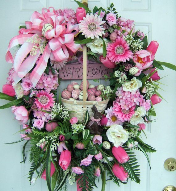 Easter wreath - so very pretty