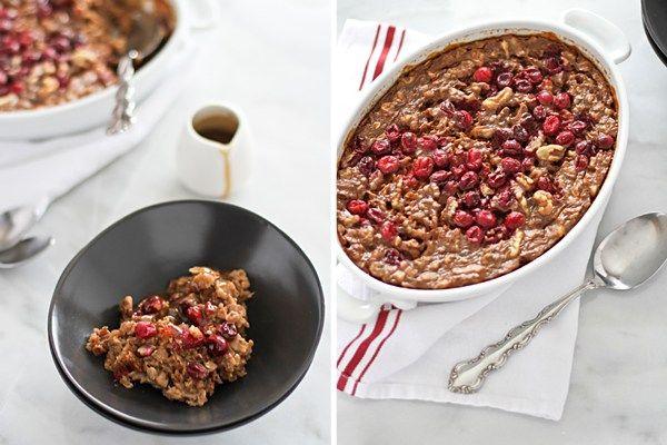 Baked Gingerbread Oatmeal with Bourbon Sauce | BourbonAndHoney.com