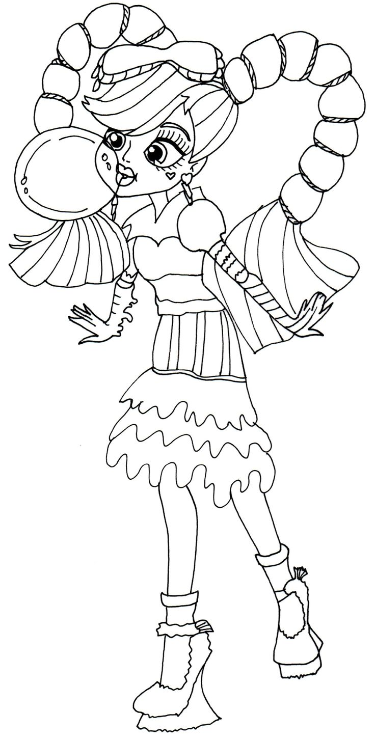 Free Printable Monster High Coloring Pages Draculaura