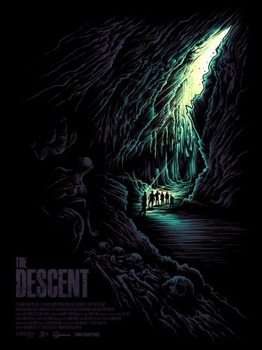 The Descent' Movie Poster by Dan Mumford. With glow in the dark ink!