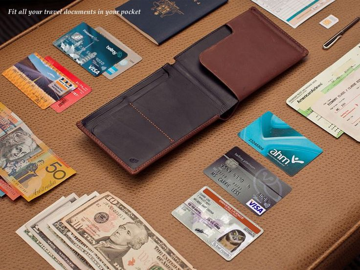 Travel Wallet - Slim Leather Wallets by Bellroy Such a great way for men to package travel necessities.