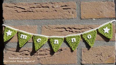 Crochet-licious: Itty bitty bunting