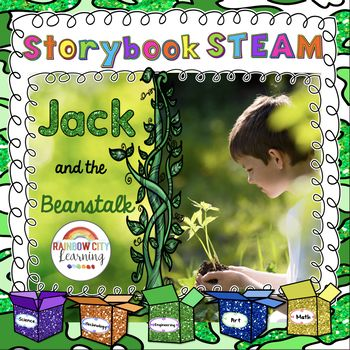 Perfect Spring and Earth Day Maker Space fun! Also great for your Sub Tub! Add some fun and whimsy to your classroom Maker Space or to your elementary science classroom with this Jack and the Beanstalk STEM/STEAM resource. Storybook STEAM invites students to think about their