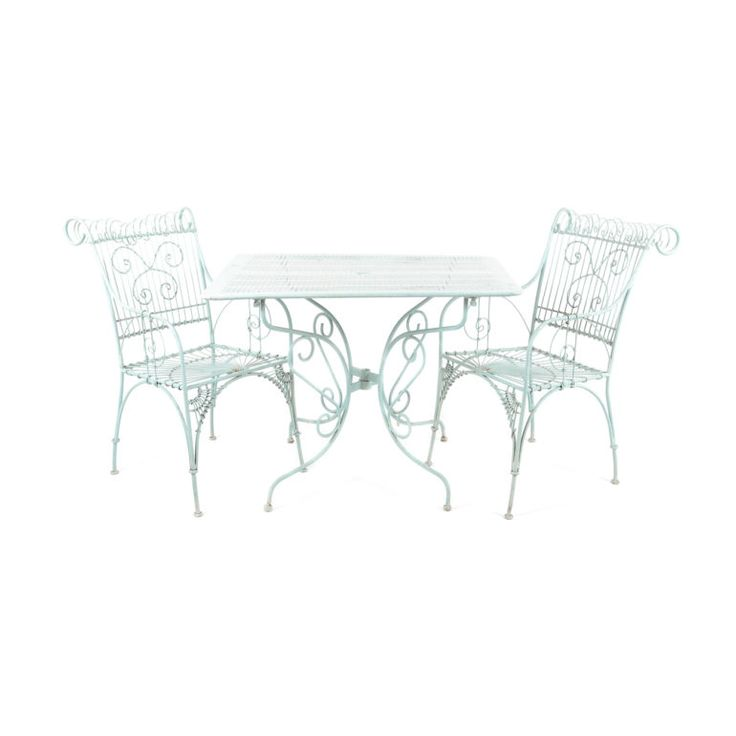 "French wrought iron chairs in the Art Nouveau style. Circa 1920. To see our other chairs, click here 19"" Wide x 24"" Deep x 35"" Tall x 17"" Floor-to-Seat."