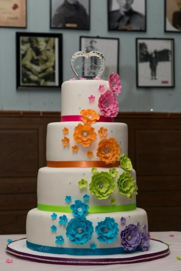 rainbow flower wedding cake 25 best ideas about rainbow wedding cakes on 18958