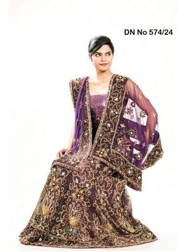 Purple #bridal #lehenga choli with dupatta is the best #wedding lehenga for an Indian bride.