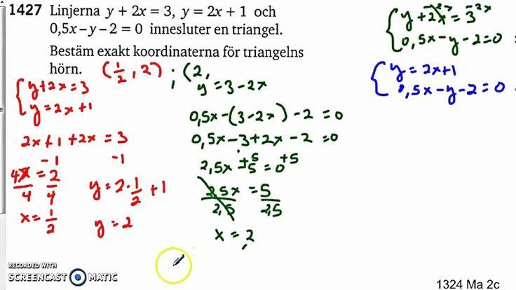 Matematik 5000 Ma 2c   Kapitel 1   Ekvationssystem   Substitutionsmetode...