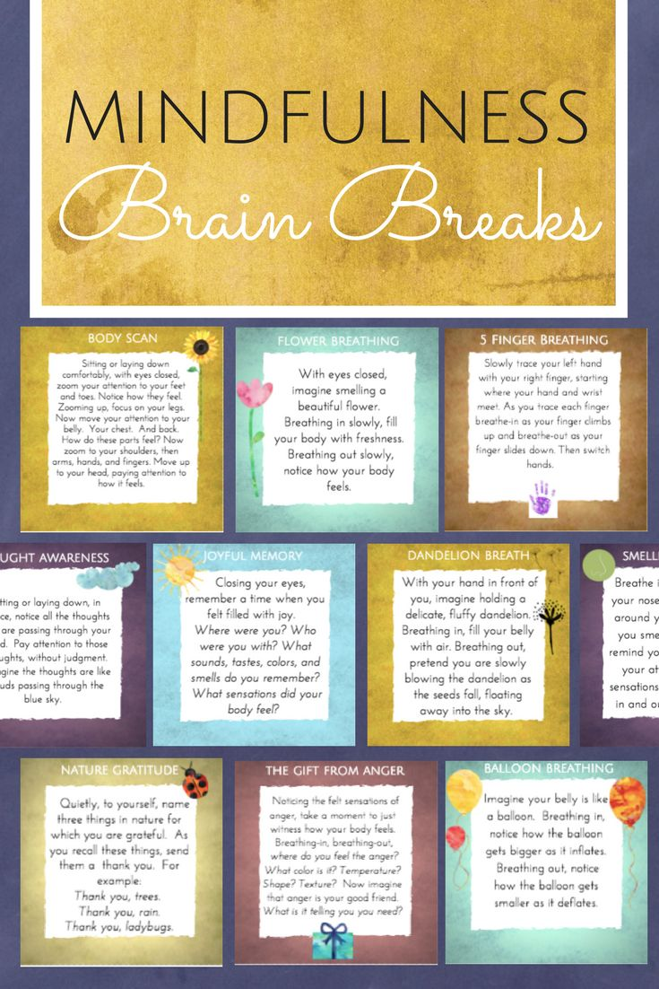 Mindfulness Brain Breaks  || Ideas, inspiration and resources for teaching GCSE English || www.gcse-english.com ||