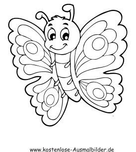 Ausmalbild Schmetterling 7 | 2 Color * Cute | Coloring pages