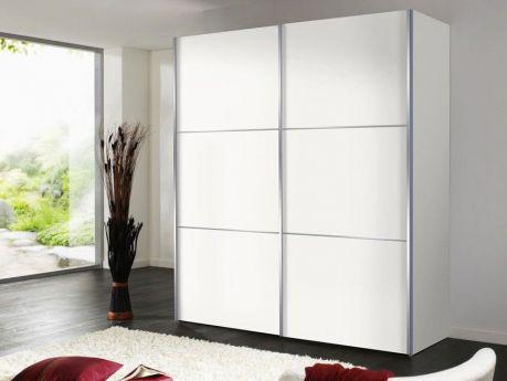 Schlichtes Design und klare Linien: Schwebetürenschrank Bianco sorgt für ausreichend Platz. Raffinierte Details wie Spiegelfront und Zierleisten setzen Akzente.