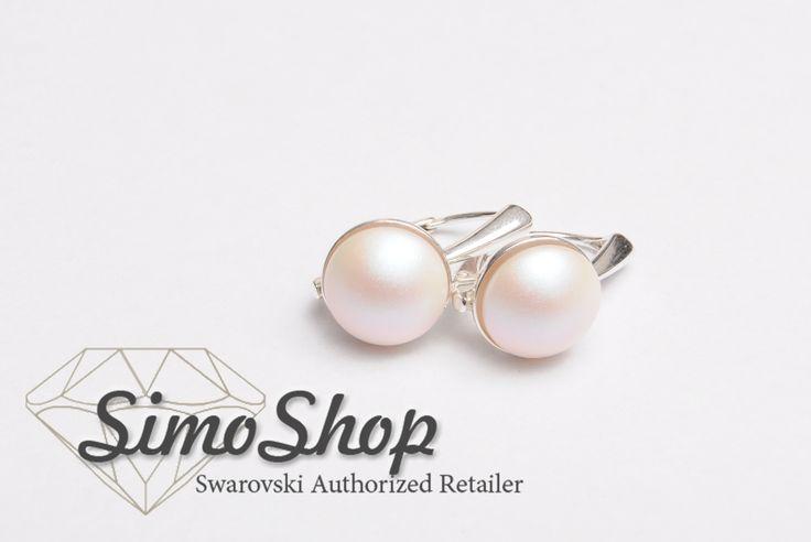 Cercei din argint 925 cu perle swarovski. #simoshop #bijuterii #accesorii #argint #swarovskicrystals #swarovski