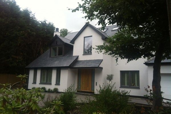 Recently completed, Internorm HF300 composite, triple glazed, RAL 9007