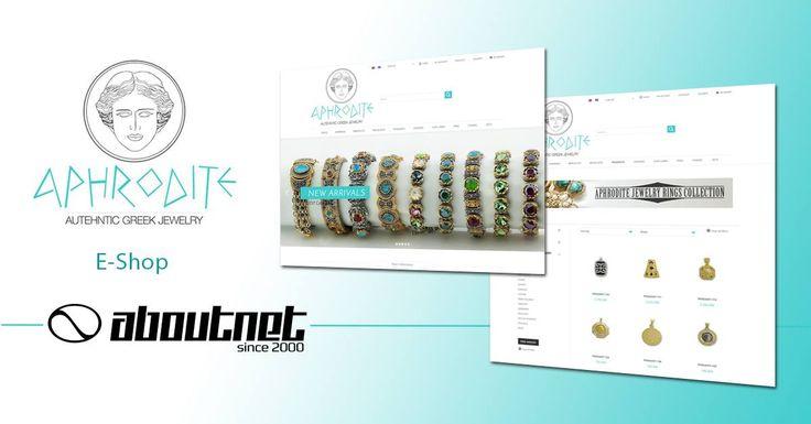 Η #aboutnet δημιούργησε το #eshop του κοσμηματοπωλείου Aphrodite που βρίσκεται στο Μοναστηράκι της Αθήνας στην Ηφαίστου. Για online αγορές επισκεφτείτε το www.shopaphrodite.com.