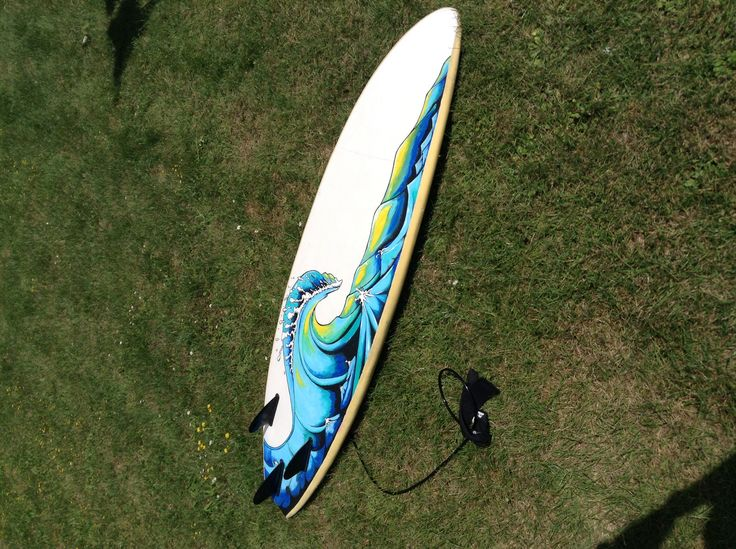 My surfboard painting, half finished. July 2014.