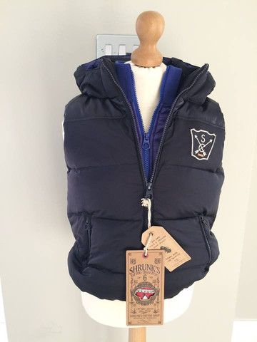 Scotch Shrunk Navy Gilet with Double Inner