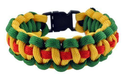 Bohemian Rasta Paracord Survival Bracelet, 8 Inches, #14 Mandala Crafts http://www.amazon.com/dp/B009XEE0NM/ref=cm_sw_r_pi_dp_qOHYwb09TFARF