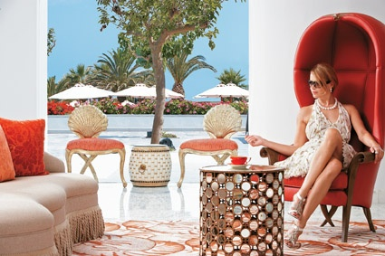 Creta Palace, Sparkling Lobby Lounges and outside view