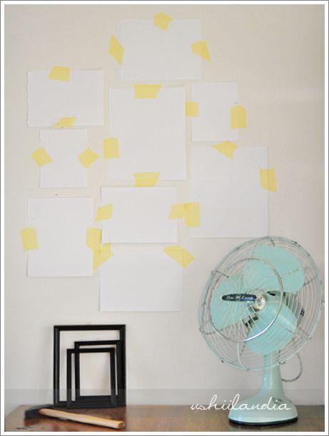 www.ushiilandia.blogspot.com Małe zmiany w sypialni i minitutorial dekorowania ścian (a nawet dwa!)