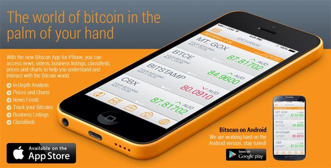 Bitscan App | Apple and Android | Bitcoin and Altcoin Mobile Apps | Coin Pursuit