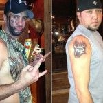Jason Aldean       To set the record straight, me and @LukeBryanOnline did NOT get matching tatoos!! We were the only 2 @buck_commander owners to not have one.
