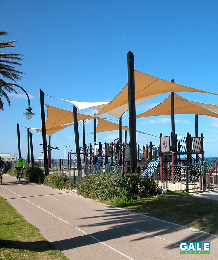 Oasis Playground In Melbourne Using GALE Pacific Shade Fabric