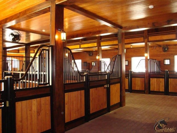 Standard low rise stall front with alternating fill wood for Barns with apartments above