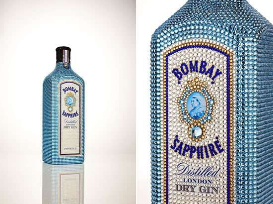 Limited Edition Bombay Sapphire is Adorned in 10,000 Crystals #Luxury #Drinks