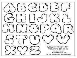 alphabet letters bubble writing - Google Search